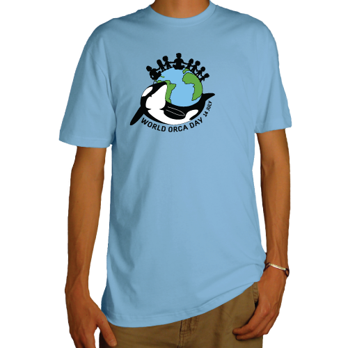 Orca Shop: World Orca Day 14 July man t-shirt by Ecojoia