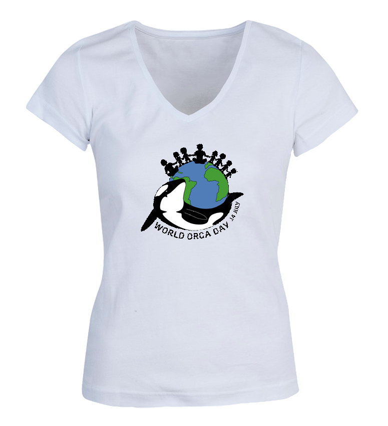 World Orca Day 14 July woman t-shirt by Ecojoia